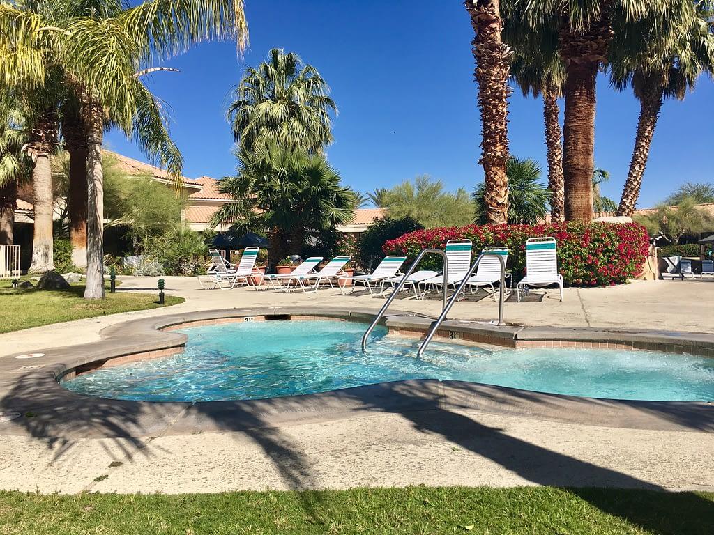 natural hot mineral water pool