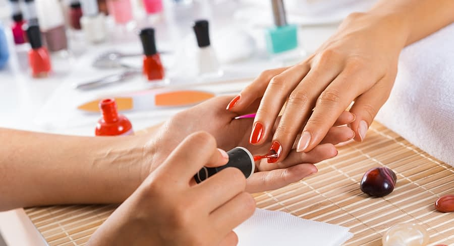nail salon spa at the miracle springs resort