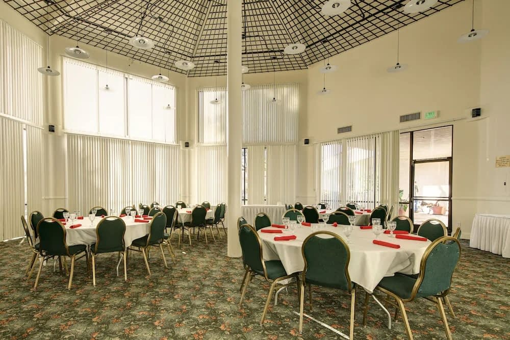 Atrium meeting space at the Miracle Springs Resort & Spa