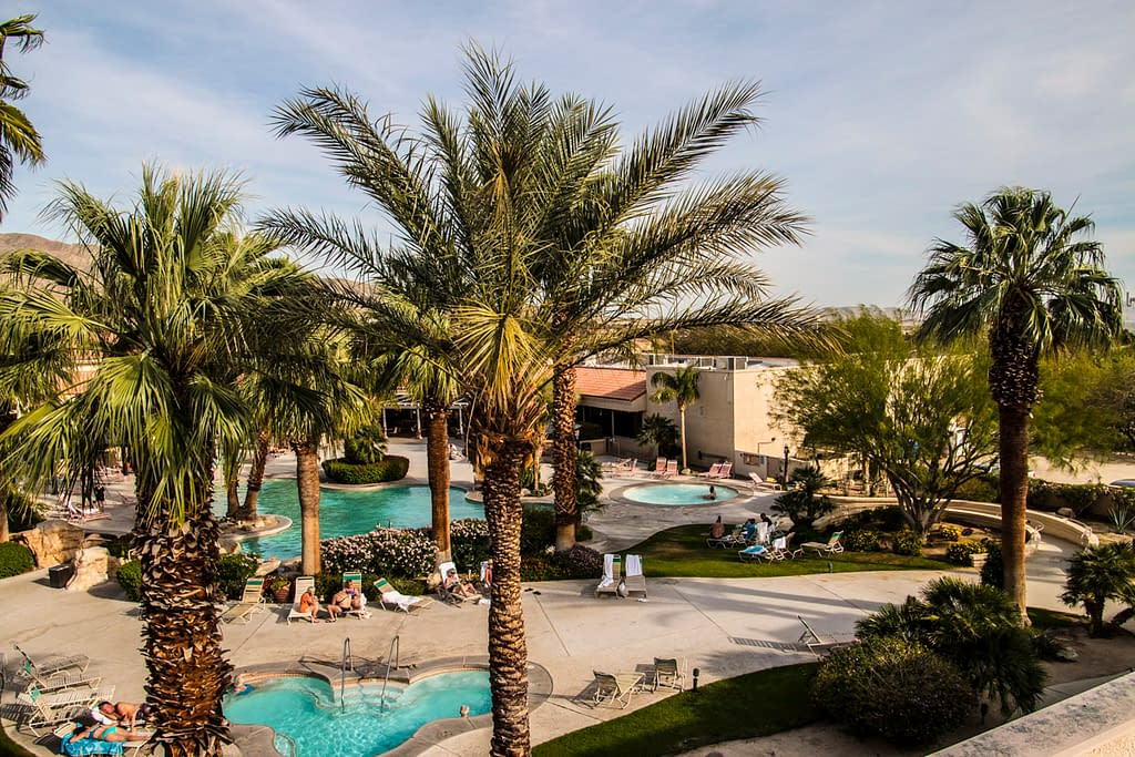 miracle springs resort courtyard
