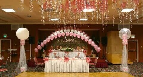 quinceanera event in the ballroom